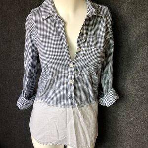 J. Crew checkered astriped longsleeve button-down